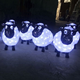 2018 event and party Outdoor christmas decoration acrylic LED sheep night lights