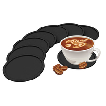 Silicone Drink Coaster,Round Silicone Cup Mat Coaster for Any Table Type,Perfect Soft Coaster Fits Any Glass China Supplier