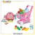 new item CE approval fold doctor table suitcase packing plastic kids doctor play set with sound