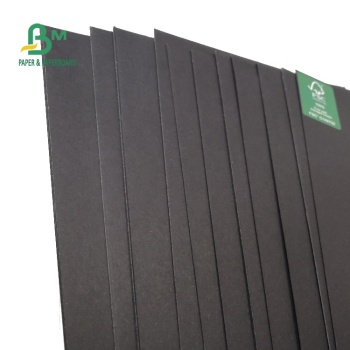 FSC Certified Solid Smooth Black Paper Board In Sheet 70 * 100cm 110 - 350gsm