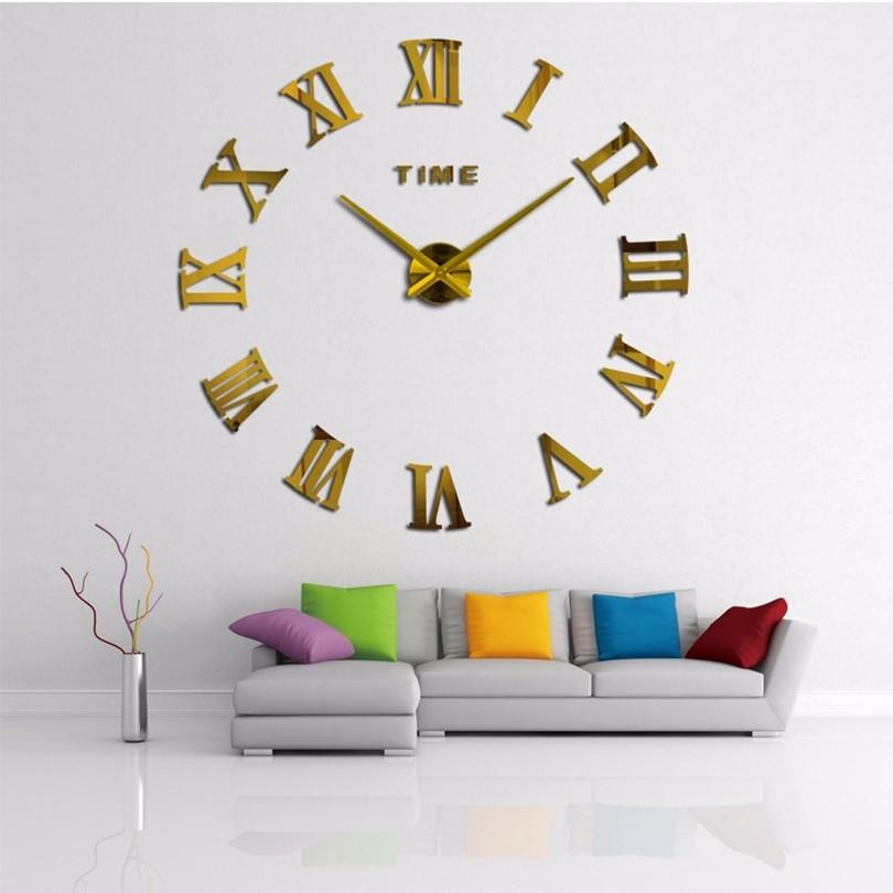 Rome Digital Horloge murale effet 3D Autocollant Decal Accueil Art Décor-Blanc Brique