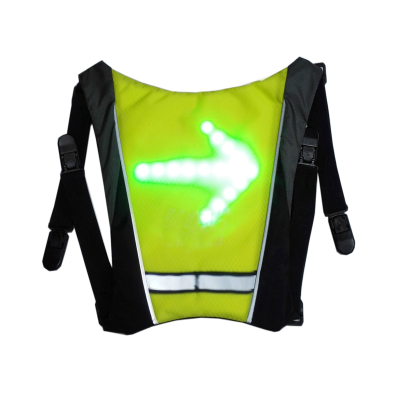 New Wireless Backpack Vest With LED Turn Signal Light Bicycle LED Accessory for Outdoor Sports