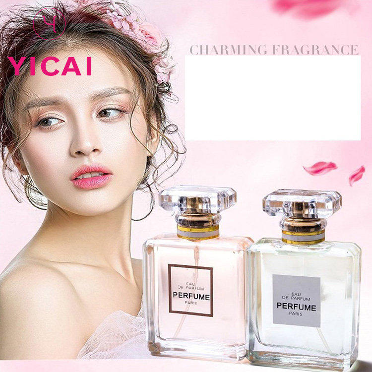 New Type 100ml Small Square Empty And Transparent Spray Perfume Glass Bottle