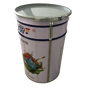 25 liter stainless steel paint drum bucket for coating adhesive latex