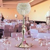"30"" Handmade Gold Acrylic Metal Crystal Candle Holder Flower Ball Stand Gobles"