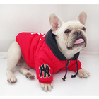 Fashionable puppy clothes dog two-legged cotton coat zipper designed convenient pet wear with warm hat