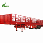 Best Price 3 Axle Cargo Vegetable Coal Fence Semi-Trailer Animal transport Truck Trailer