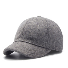 Hot koop winter mannen korte rand wolvilt <span class=keywords><strong>baseball</strong></span> caps