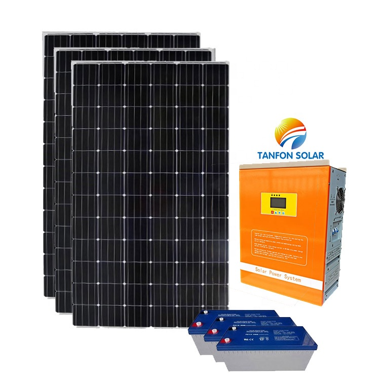 New green energy home lighting solar power home solar system complete package 2kw solar system