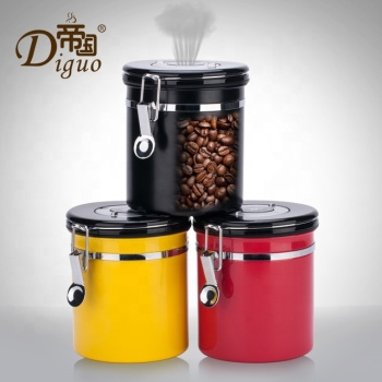 2020 Amazon Hot Sale Different Capacity Colorful Stainless Steel Airtight Canister For Sugar Food Coffee Bean Tea