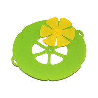 FDA Cooking Tools Flower Cookware Parts Green Silicone Boil Over Spill lid Stopper Oven Safe For Pot/Pan Cover
