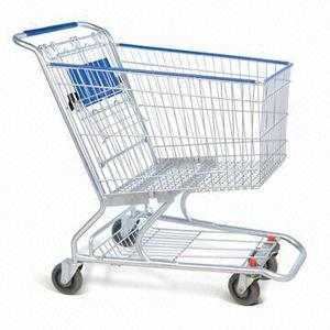 Good selling metal folding retail shopping hand trolley cart
