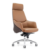 2019 new China foshan furniture premium executive chair YS1523A brown PU leather office chair