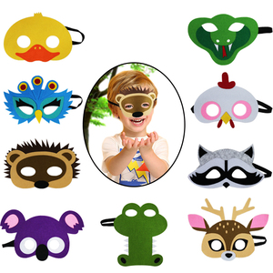 Kids Animal Felt Masks For Boys And Girls Birthday Party Cosplay Halloween Costumes Accessories Customized