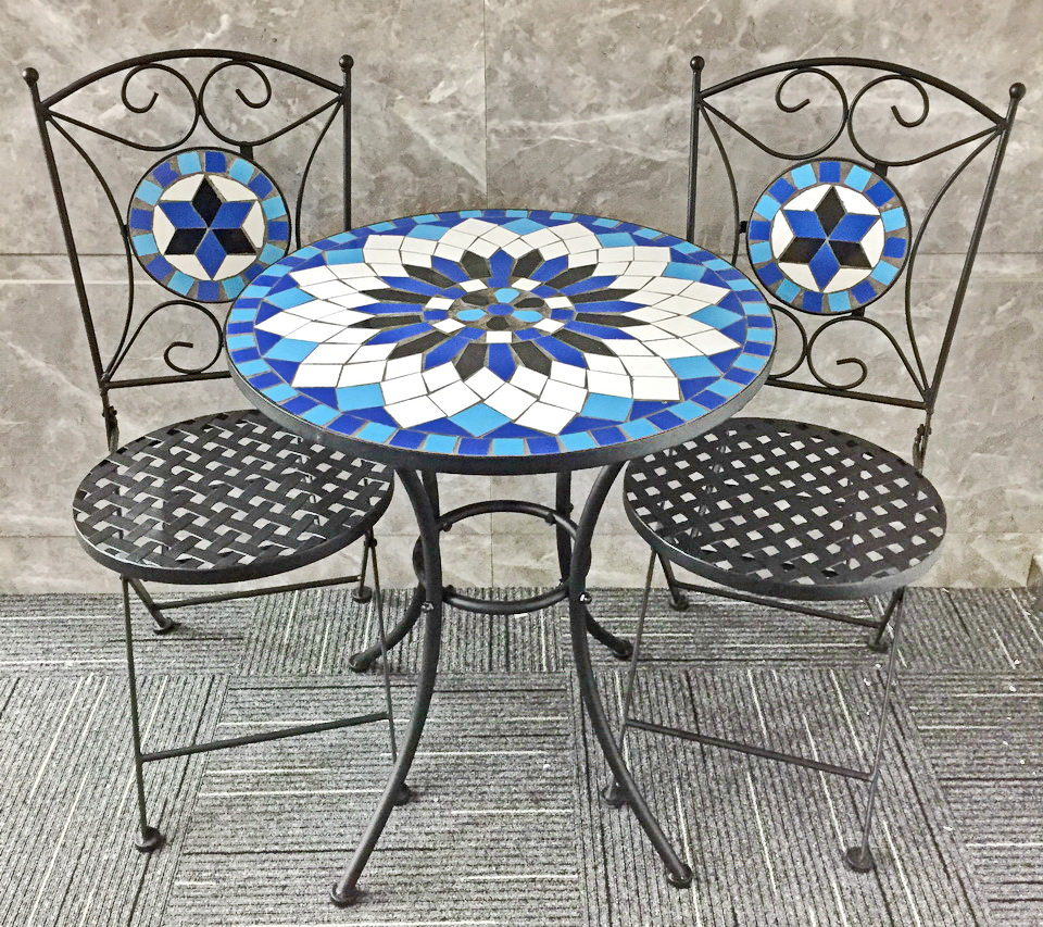 Outdoor Patio Set And Chair Mosaic Bistro Table - Buy Mosaic