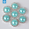 Wholesale plastic ABS half round pearl beads button for bags decorations