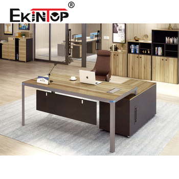 Ekintop Standard Office Desk Dimensions Office Furniture L Shaped Office  Executive Desk - Buy Standard Office Desk Dimensions,Office Furniture U ...