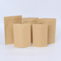 High Quality Customized Logo Zipper Lock Stand Up Plastic Weed Packaging Kraft Paper Seeds Bag*