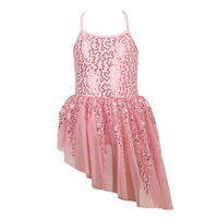Girls' Sequins Camisole Ballet Dancing Dress Tutu Skirted Leotard Ballerina Dance Wear Costumes