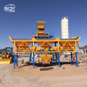 Plc control small ready mix cement concrete batching mixer plant price for sale