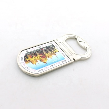 Factory Making Top Selling Country Souvenirs With Venice Scenery Custom Metal Fridge Magnet With Bottle Opener