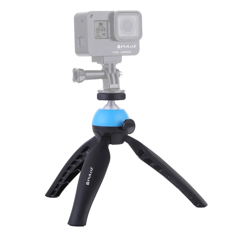 Hot sale dropshipping PULUZ Pocket Mini Tripod Mount with 360 Degree Ball Head for Smartphones camera tripd for Gopro
