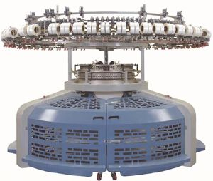 Suntech high speed fleece open width jersey rib circular knitting machine
