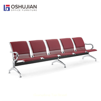 5-seater airport leather metal waiting chair antique waiting room chairs