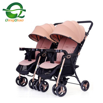 Cheapest Foldable Convenient Combo twin Baby Carriages Double Bassinet child stroller Suitable for All Terrain