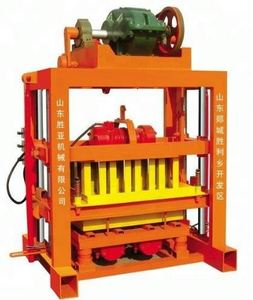 manufacture sale qtj4-40 semi automatic animal feed block making machine for small industry