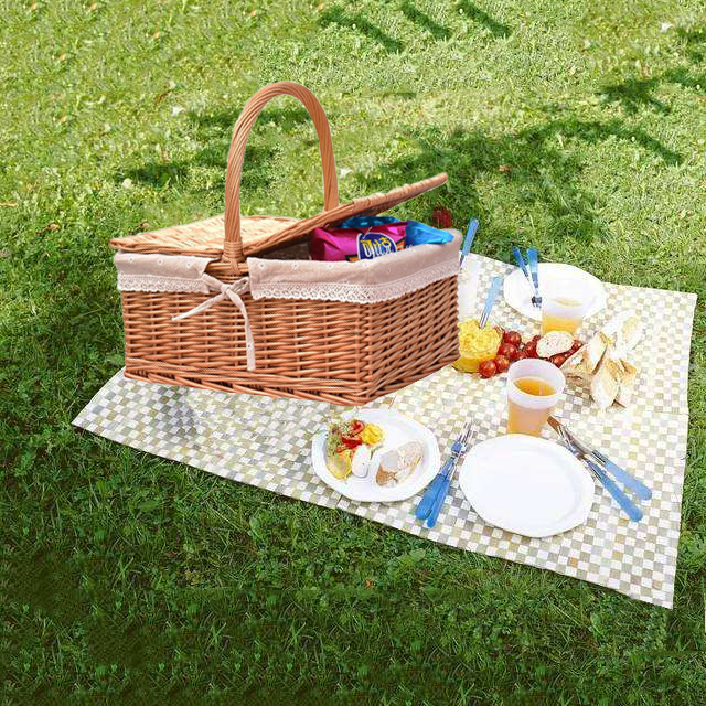 Amazon On-Line Shopping Free Shopping Decorazione di Cerimonia Nuziale Regalo di Stoccaggio di Vimini Cestino Da Picnic Set