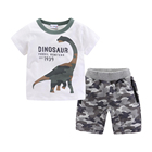 Mudkingdom children printing cotton boys clothing set for summer