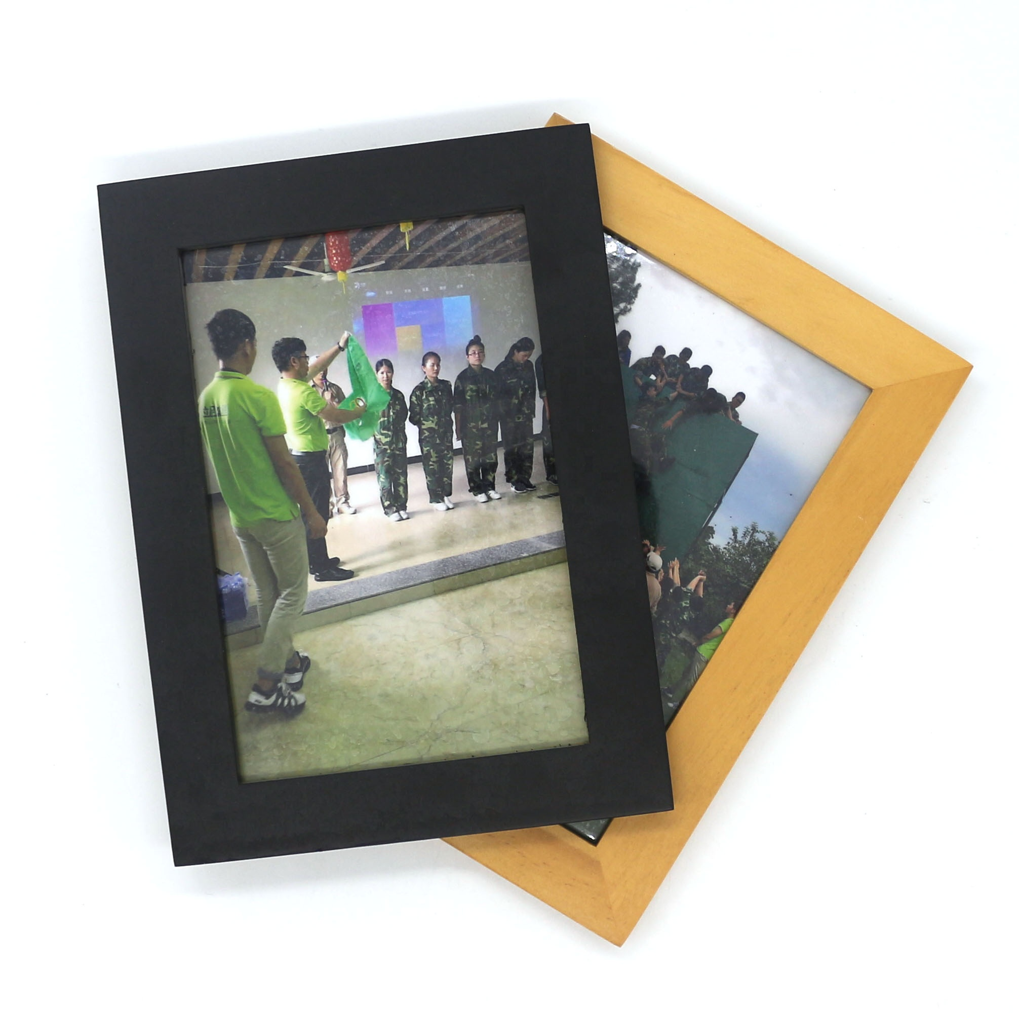 promotional stand size colorful wood photo frame