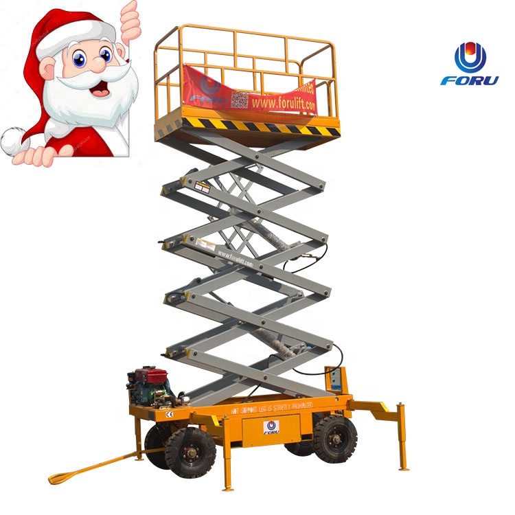 12m CE and ISO certificate portable mini scissor lift hydraulic mobile scissor lift for repair Road light