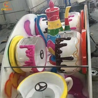 Customized trailer mounted portable amusement park game machine coffee cup rides tea cup ride for sale