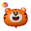 High quality large helium-filled tiger shaped PE foil balloon