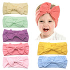Kids accessories thin hairband bandana custom baby girl head band spandex knitted hair wrap band turban knot headband