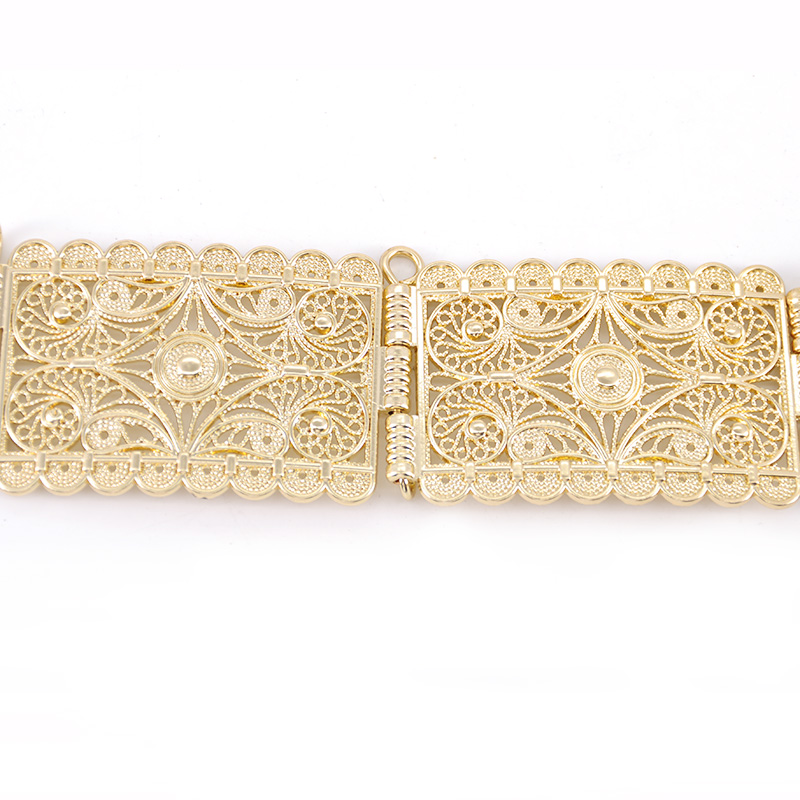 The stylish long-sleeved ladies' party metal belt is a belt-adjustable length for ladies' wedding banquets Bohemian Bijoux