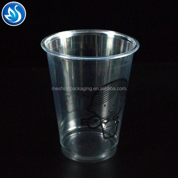 14oz PET disposable plastic juice packaging cup manufacturer