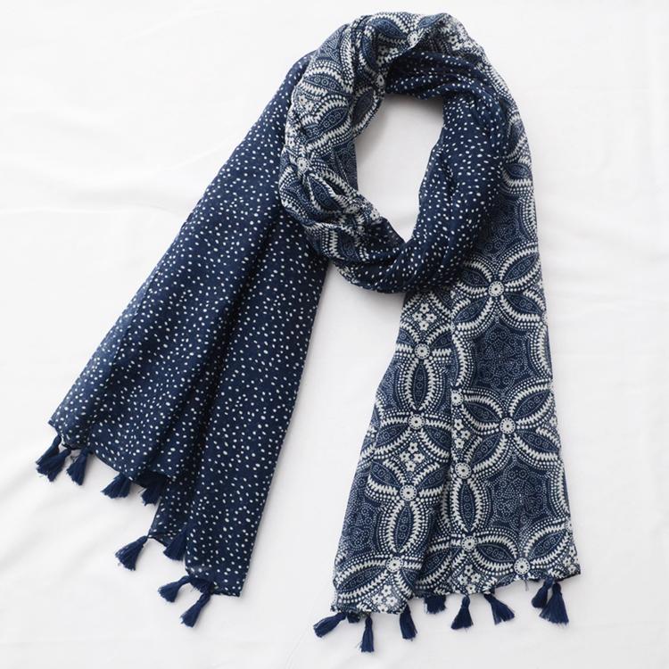 US Seller bohemian mandala flower infinity scarf scarves loops