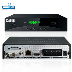 GS media DVB-T2 Set Top Box Decoder Free to Air full HD Digital TV  Satellite Receiver 168mm with factory price