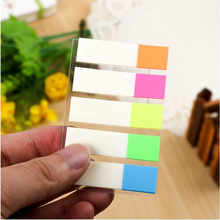 Promotionele Pagina Marker Index Tabs Transparante PET Sticky Notes