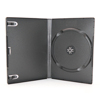 WHOLESALE STANDARD 14MM SINGLE Black CD DVD VCD CASE FOR ULTRA THIN ONE DISC DVD BOX