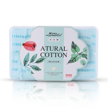 Professional manufacturer pure cotton pads makeup romover 100 pcs in pack