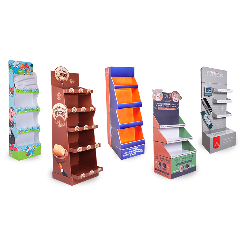 POP Kartonnen Product Verlader Display, Custom Kartonnen Display Plank Rack, Kartonnen doos Papier Vloer Display Stand