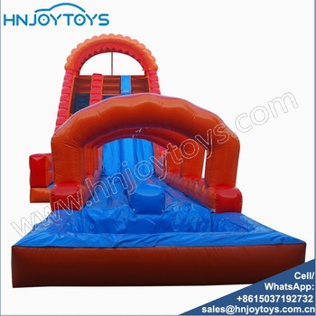 Commercial Durable PVC Inflatable Jumping Bouncer Castle With Water Slide For Sale