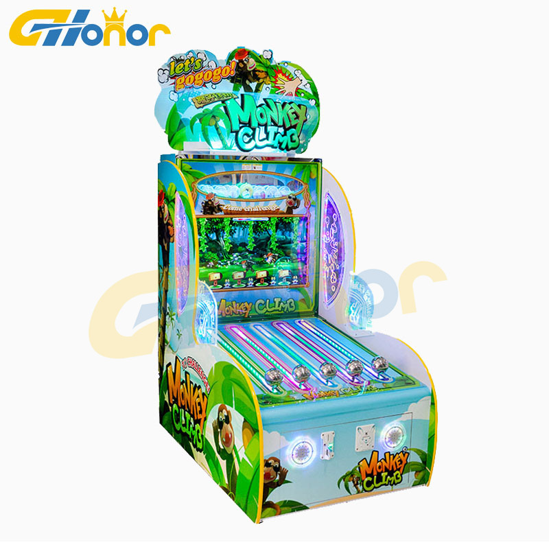 Muntautomaat Video Loterij Machine Fun Aap Klim Boom Arcade Games Indoor Verlossing Machine voor Verkoop