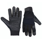 PRI Black Goatskin Police Army Military Work Cut resistance leather Safety gloves