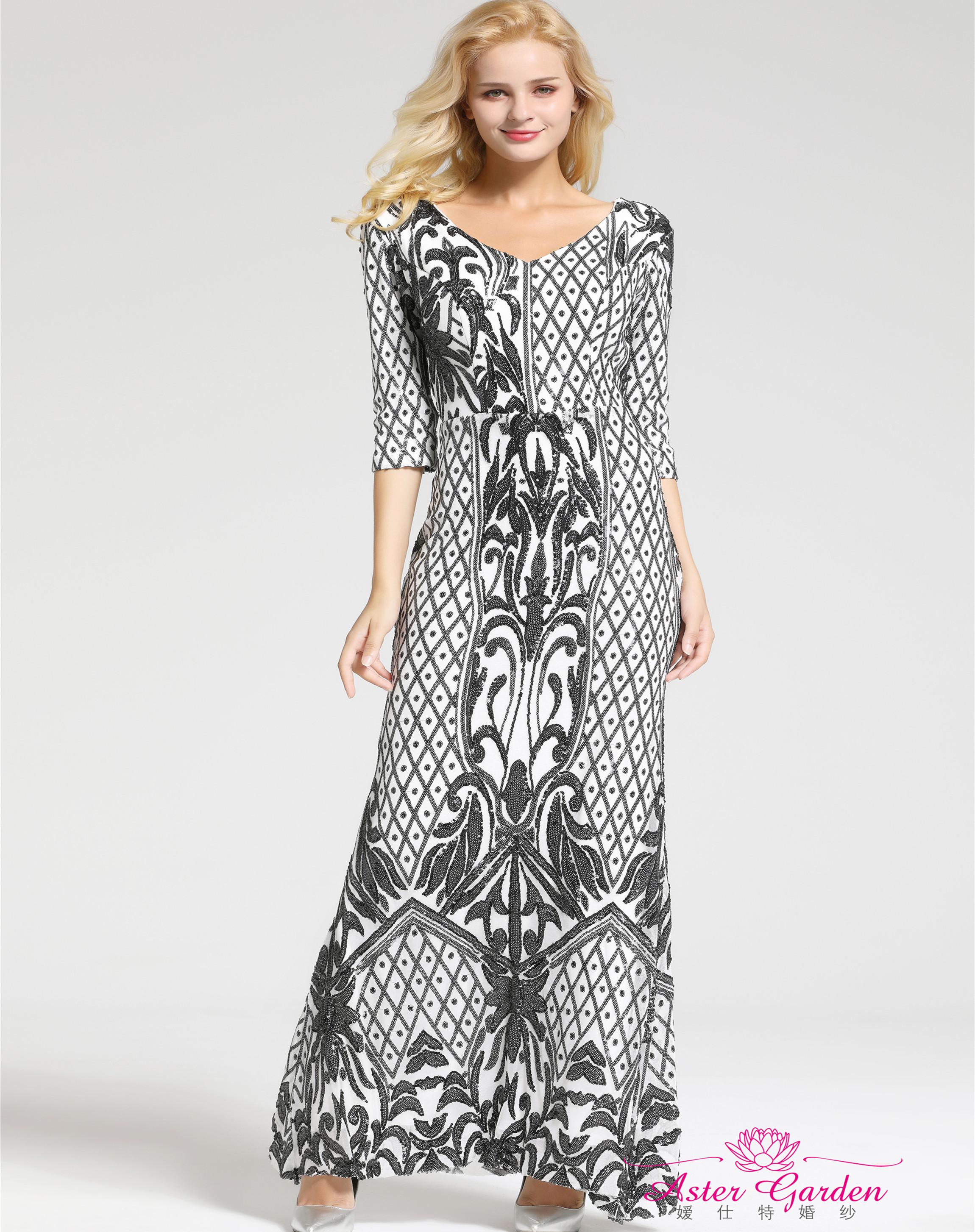 9e25f7de8ab Купить Длинным Рукавом Русалка Вечернее Платье оптом из Китая