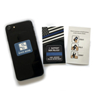 Promotional mobile cell phone microfiber screen cleaner sticker